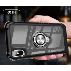 リング ケース iPhone XR iPhoneXS Max iPhoneX カバー バンカーリング 車載ホルダー対応 アイフォンXr アイフォンXS MAX マックス リング付き|beineix-store|12