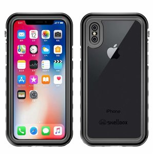 iPhone XS MAX XR X 8 7 6 6s Plus ケース 完全防水 クリア 透明 フ...
