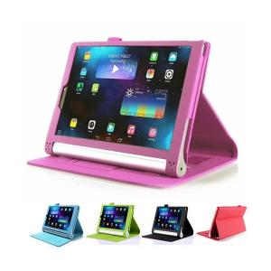 ハンドベルト付き Lenovo YOGA Tablet2 8インチ 830F/830L 10インチ 1050F/1050L 手帳型 高級 レザーケース レノボ YOGA Tablet 2 タブレット 保護 ケース