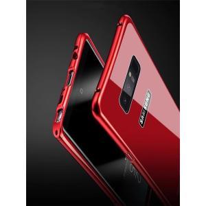 Galaxy Note8 ギャラクシーノート8 ガラスケース アルミバンパー Glass 強化ガラス Galaxy SC-01K SCV37 カバー カラフル|beineix-store|07