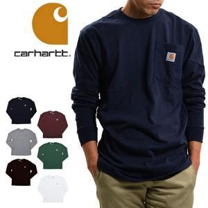 送料無料 【メール便配送】Carhartt カーハート ヘビーウエイト 長袖 ポケット Tシャツ K126 ロンT ポケT 大きいサイズ|being-yah