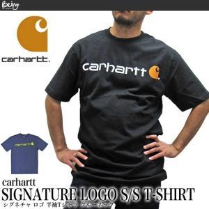 送料無料 【メール便配送】カーハート Carhartt K195 シグネチャ ロゴ 半袖Tシャツ SIGNATURE LOGO SHORT-SLEEVE T-SHIRT being-yah