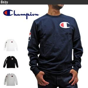 送料無料 【メール便配送】チャンピオン Champion Tシャツ 長袖Tシャツ GT47 Y07789 CロゴTee ロンT USA限定モデル|being-yah