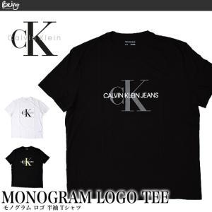 送料無料 【メール便配送】Calvin Clein 半袖Tシャツ 41VM883 カルバンクライン XL 大きいサイズ MONOGRAM LOGO 半袖TEE|being-yah