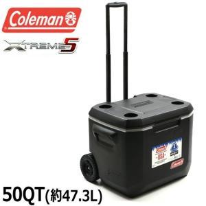 コールマン Coleman クーラーボックス エクストリーム ホイール クーラー 50QT 大型 約47L アウトドア キャンプ キャスター付 ハード 3000005145|being-yah