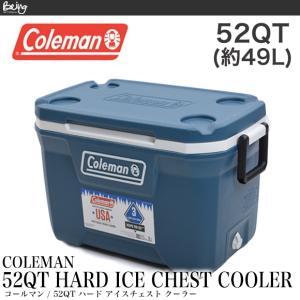Coleman コールマン クーラーボックス アイスチェスト3000006087 52QT COOLER ブルー スペースブルー|being-yah
