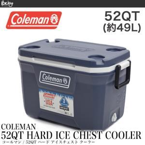 Coleman コールマン クーラーボックス アイスチェスト3000006088 52QT COOLER ネイビー ブルーナイツ|being-yah