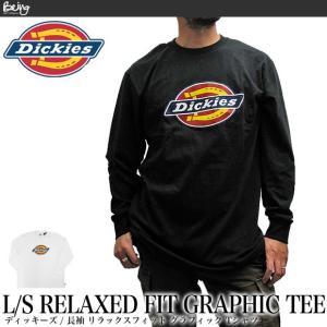 送料無料 【メール便配送】Dickies ディッキーズ Tシャツ ロゴ プリント 長袖 リラックスフィット グラフィック Tシャツ ロンT WL45A|being-yah