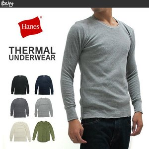 送料無料 【メール便配送】ヘインズ HANES サーマル Tシャツ 長袖 HM4-Q501|being-yah