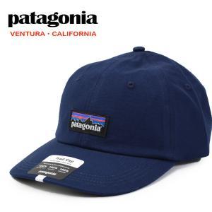 【メール便配送】パタゴニア Patagonia キャップ 38296 P-6 ラベル トラッド キャップ 帽子 Classic Navy|being-yah