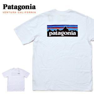 送料無料 【メール便配送】Patagonia パタゴニア Tシャツ 38504 Patagonia パタゴニア ロゴ Tシャツ メンズ P-6ロゴ・レスポンシビリティー Tシャツ ホワイト 白 being-yah