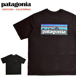 【メール便配送】Patagonia パタゴニア Tシャツ 38512 ロゴ メンズ P-6ロゴ レスポンシビリティー 半袖Tシャツ ブラック|being-yah