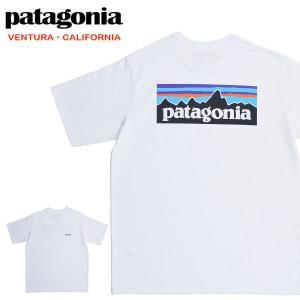 【メール便配送】Patagonia パタゴニア Tシャツ 38512 ロゴ メンズ P-6ロゴ レスポンシビリティー 半袖Tシャツ ホワイト|being-yah