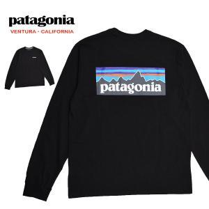 送料無料 【メール便配送】Patagonia パタゴニア 長袖 Tシャツ メンズ ロンT ロゴT ブラック 38518 MENS P-6 RESPONSIBILI-TEE BLK being-yah