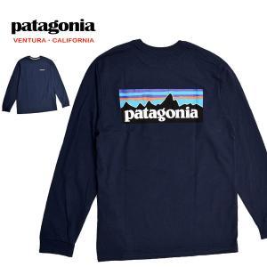 送料無料 【メール便配送】Patagonia パタゴニア 長袖 Tシャツ メンズ ロンT ロゴT クラシックネイビー 38518 MENS P-6 RESPONSIBILI-TEE CNY being-yah