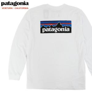 送料無料 【メール便配送】Patagonia パタゴニア 長袖 Tシャツ メンズ ロンT ロゴT ホワイト 38518 MENS P-6 RESPONSIBILI-TEE WHT|being-yah