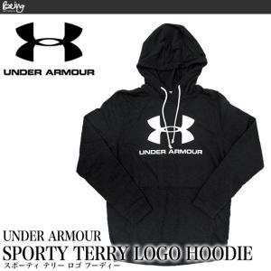 アンダーアーマー UNDER ARMOUR メンズ スウェットパーカー SPORTY TERRY LOGO HOODIE 大きいサイズ 1348520|being-yah