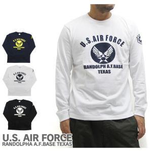 送料無料 【メール便配送】U.S. AIR FORCE ユーエスエアフォース  長袖 Tシャツ|being-yah