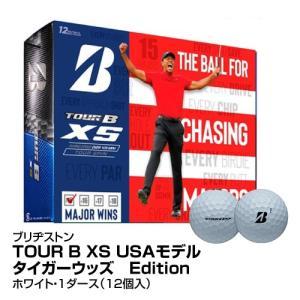 ゴルフボール BRIDGESTONE ブリヂストン TOUR B XS USAモデル タイガーウッズ Edition 1ダース 12個入 ホワイト_0760778083017_91