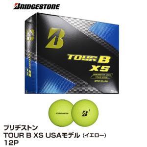 ゴルフボール BRIDGESTONE ブリヂストン TOUR B XS USAモデル 1ダース 12個入 イエロー_0760778087596_91 beisia
