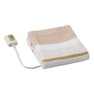 電気毛布 洗える 電気敷毛布 130×80cm ストライプ オレンジ 広電 VWS401-B|beisiadenki