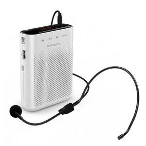ポータブルハンズフリー拡声器 ホワイト WINTECH KMA-210 台風 防災グッズ|beisiadenki