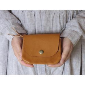 とても上質な国産牛革で作ったお財布 可愛い財布です。新色のブラウンもおすすめ。 革で手触りがとても良...