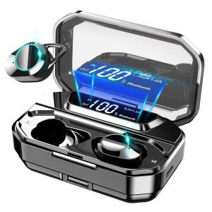 ワイヤレスイヤホン bluetooth5.0 LEDディスプレイ 高音質 日本語案内 ノイズキャンセ...