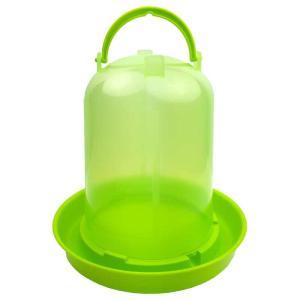 【ヒヨコ・ウズラサイズ】自動給水器 容量3L(緑スケルトン)【ニワトリ キジ類用】|belbird