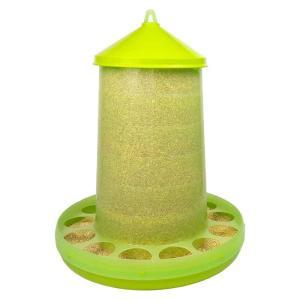 【餌入れ】自動給餌器(スケルトン緑) 容量16Kg 【にわとり・ちゃぼ・うこっけい】 belbird