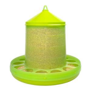 【餌入れ】自動給餌器(スケルトン緑) 容量8Kg 【にわとり・ちゃぼ・うこっけい】|belbird