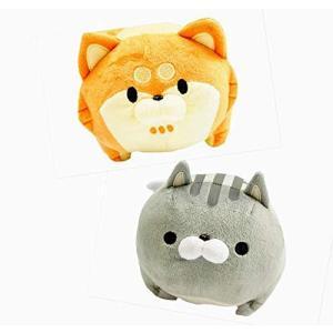 ボンレス犬とボンレス猫 ぬいぐるみ Mサイズ 2個セット セキグチ ロフト|belem-code