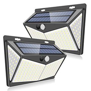 最新版208LEDZEEFO センサーライト ソーラーライト 4面発光 屋外照明 人感センサー 3つ点灯モード 防水 防犯ライト 両面テープ belem-code