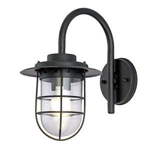 KY LEE ウォールライト ガーデンライト 玄関照明 外灯 LED 門灯 壁掛け照明 節電対応 幅35 / 高38CM 黒 belem-code