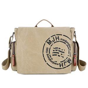 RAKEE ショルダーバッグ トート メンズ メッセンジャーバッグ 帆布 肩掛け斜めがけ 防水 バッグ a4サイズ 大容量 丈夫 4色|belem-code