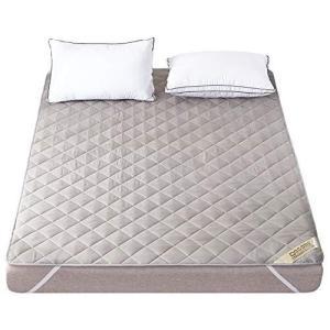 ベッドパッド 快適敷きパッド 抗菌防臭加工 ベッドシーツ 綿100% 敷きふとんカバー 吸湿速乾 丸洗いOK 防ダニ パッド 裏地がズレ防止 belem-code