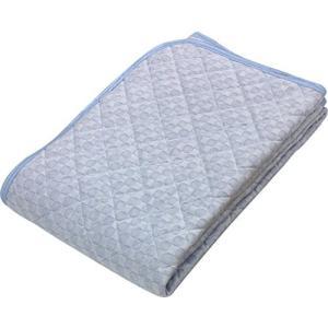 京都西川 敷きパッド ブルー セミダブル 120×205cm 洗える 接触冷感 ひんやり さらさら クール 優れた通気性 5I-SH077 belem-code