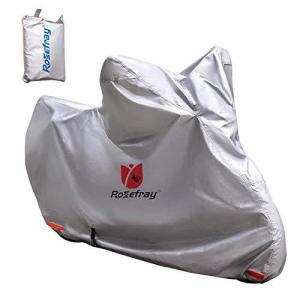 Rosefray バイク カバー 3L-4L 240cmまで対応 スマートサイズ 高機能 撥水 UVカット 210D 厚手 バイクカバー 大 belem-code