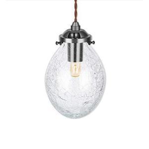 (セーディコ) Cerdeco 懐かしく、新しい灯り 雫型クリアクラック 伝統工芸吹きガラス レトロインテリア ペンダントライト 天井照明 belem-code