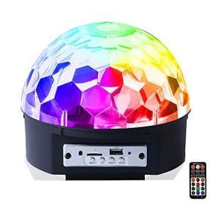 iHOVEN ステージライト 舞台照明 マジックボール クリスタル RGB多色変化 エフェクトライト 回転ライト 水晶魔球 ミラーボール パ belem-code