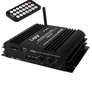LEPY Bluetooth パワーアンプ小型 45W X 4チャンネル USB/SDカード再生可 Hi-Fiステレオデジタルアンプ 高性能|belem-code