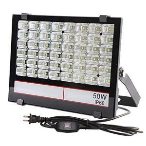 グレードアップ超薄型・超高輝度 LED投光器 50W 500W相当 昼光色 5000LM AC85~265V 優れた放熱性 安全性高い 広い|belem-code