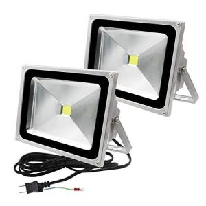 LED投光器 50W 500W相当(2個組)4300LM 昼光色 6500K 広角130度 防水加工 看板灯 3m・ACコード付 集魚灯 野|belem-code