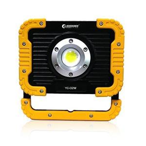 実用新案登録 グッドグッズ(GOODGOODS) COB LED 投光器 充電式 20W 2500lm ledライト 作業灯 屋外 防水 折|belem-code