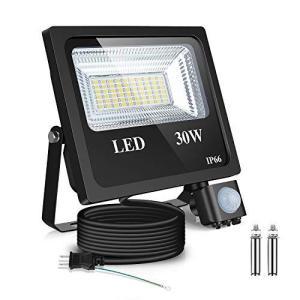 BJ 人感センサーライト30W LEDフラッドライト6500K センサーライト 屋外 投光器 IP66防水および防塵 照明駐車場入り口夜間ラ|belem-code