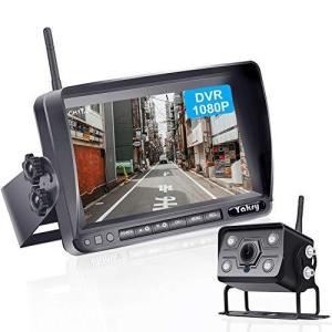 Yakry Y-06 最新版HD1080Pワイヤレスバックカメラ 7インチバックモニター バックカメラモニターセット DVR録画付き 12V|belem-code
