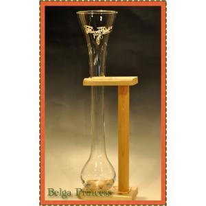 木製の台付!珍しい形! パウエル・クワック専用の大グラスです。  ベルギービールにはそれぞれ専用グラ...