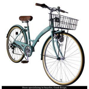 シティサイクル 自転車 ママチャリ 26インチ シマノ6段変速 カゴ カギ ライト付 T-CCB266|belkis|05