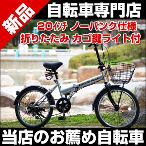 【着後レビューで空気入れプレゼント♪】 Raychell R-241N  20インチ折りたたみ自転車 シマノ6段変速 ノーパンクタイヤ カギ・カゴ・ライト付き|belkisno1