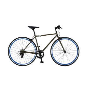 クロスバイク 700C 自転車 スタンドなし シマノ7段変速 ライト カギ付 OSSO オッソ R310-CR|belkisno1